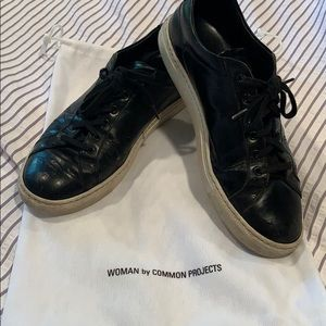 AUTHENTIC Black Common Projects sneakers size 8